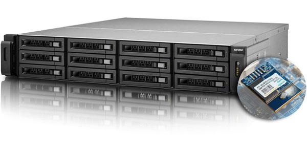 В облачных хранилищах QNAP TS-x79 роль системного диска выполняет SSD производства Apacer с интерфейсом USB