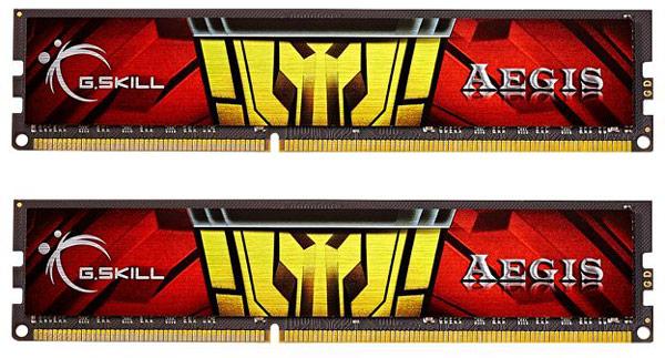 Радиаторы модулей памяти G.Skill Aegis изготовлены из алюминия