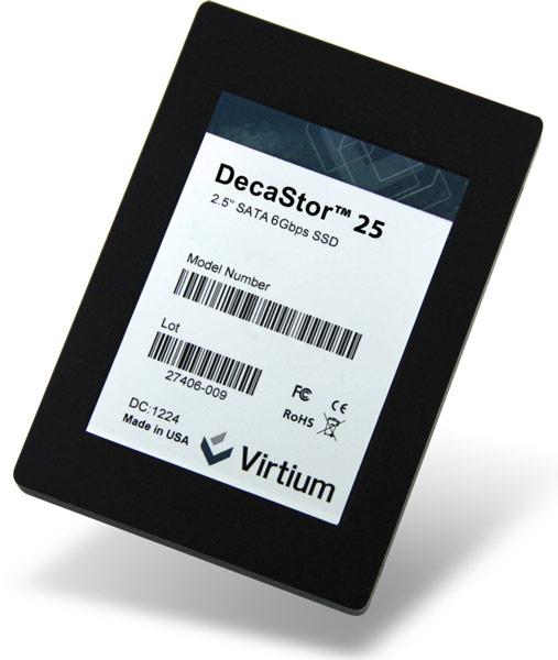 В серию Virtium DecaStor вошли SSD объемом 80, 160 и 300 ГБ с интерфейсом SATA 6 Гбит/с