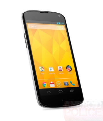Белый смартфон Nexus 4 будет доступен в двух модификациях — с 8 и 16 ГБ флэш-памяти