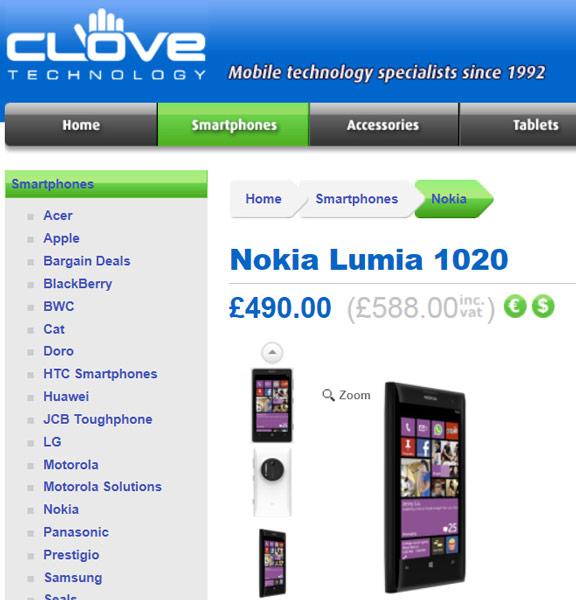 Смартфон Nokia Lumia 1020 оснащен камерой разрешением 41 Мп