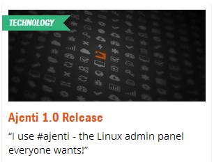 Веб панель Ajenti 1.0 на финишной прямой
