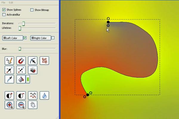 Векторная графика на рассеянных кривых