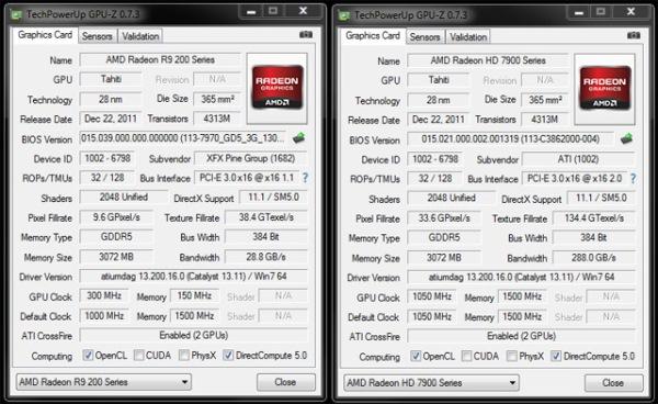 Radeon R9 280X + Radeon HD 7970