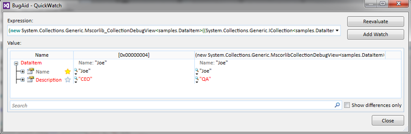 Визуализация списков в отладчике Visual Studio или новое слово от «BugAid For Visual Studio»