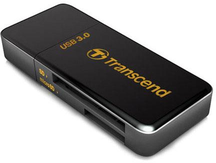 Внешнее устройство для работы с картами памяти Transcend RDF5 оснащено интерфейсом USB 3.0