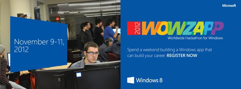 Всемирный Windows 8 Хакатон — WOWZAPP — шагает по стране!