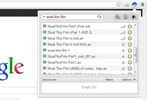 Встречайте, BitTorrent клиент для Google Chrome