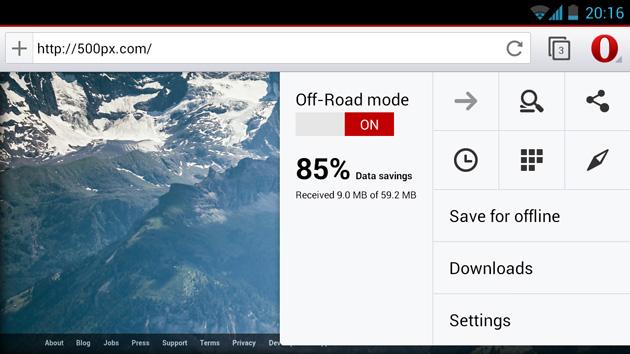 Встречайте бету Opera 14 для Андроида