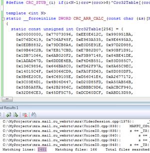Вычисление CRC32 строк в compile time