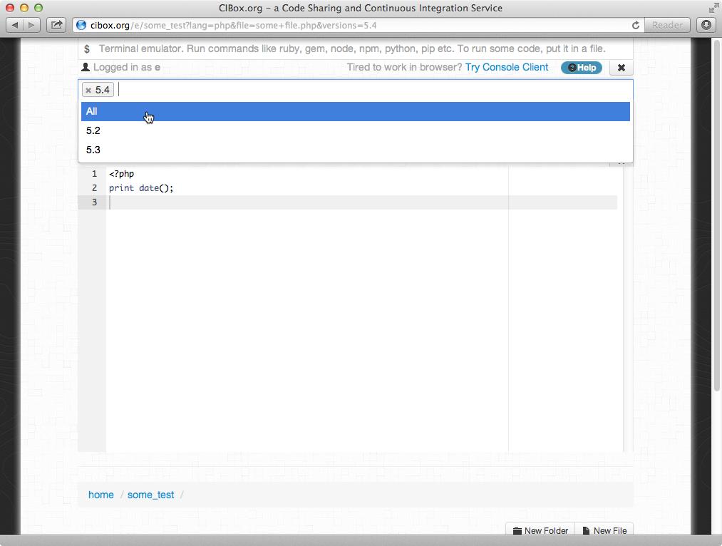 Выполняем PHP прямо в браузере