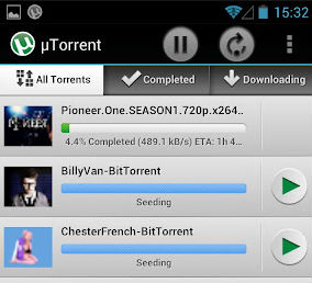 Вышел нативный клиент μTorrent под Android