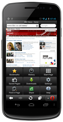 Вышла Opera Mini 7 для Android