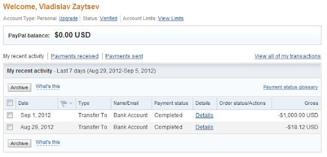 Выводим деньги с PayPal на карту: Инструкция для чайников