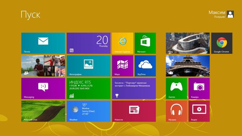 Взгляд на Modern (Metro) интерфейс Windows (Phone/RT) 8