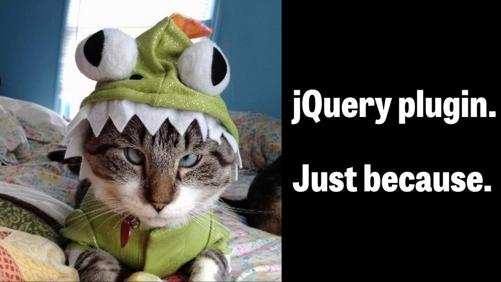 jQuery плагин - просто так