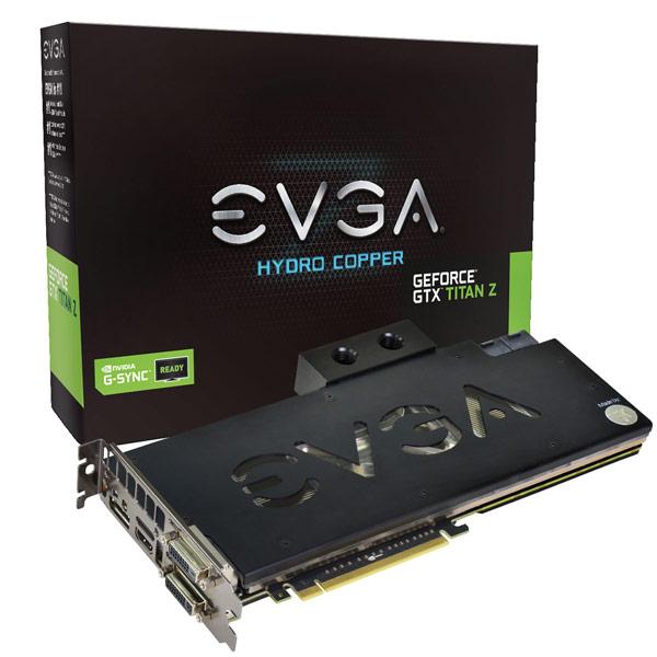 EVGA выпустила три варианта 3D-карты GeForce GTX Titan Z, включая разогнанный вариант с водоблоком