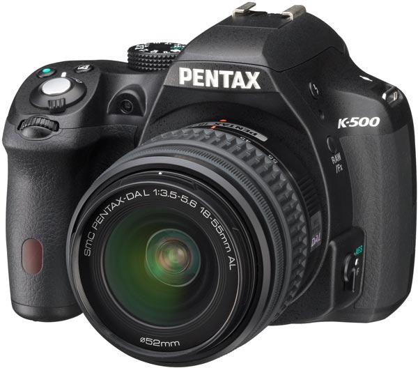 Зеркальная камера Pentax K-500 стоит дешевле старшей модели Pentax K-50